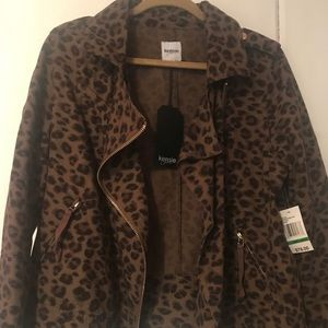 New Kensie lightweight leopard jacket size Large